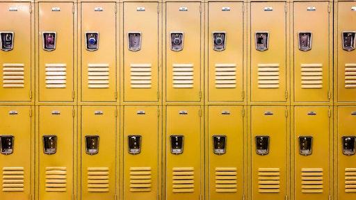 High school lockers.