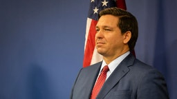 MIAMI, FL - JUNE 08: Florida Governor Ron DeSantis is seen during a press conference relating hurricane season updates at the Miami-Dade Emergency Operations Center on June 8, 2020 in Miami, Florida. NOAA has predicted that this year's Atlantic hurricane season will be more active than usual with up to 19 named storms and 6 major hurricanes possible.