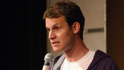 Daniel Tosh performs at the Hollywood Improv on February 20, 2008 in Los Angeles, CA.