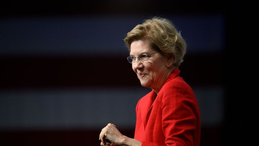 DES MOINES, IA - AUGUST 10: Democratic presidential candidate Sen. Elizabeth Warren (D-MA) speaks on stage during a forum on gun safety at the Iowa Events Center on August 10, 2019 in Des Moines, Iowa. Today Warren and her campaign introduced a gun control plan to reduce gun deaths by 80 percent.