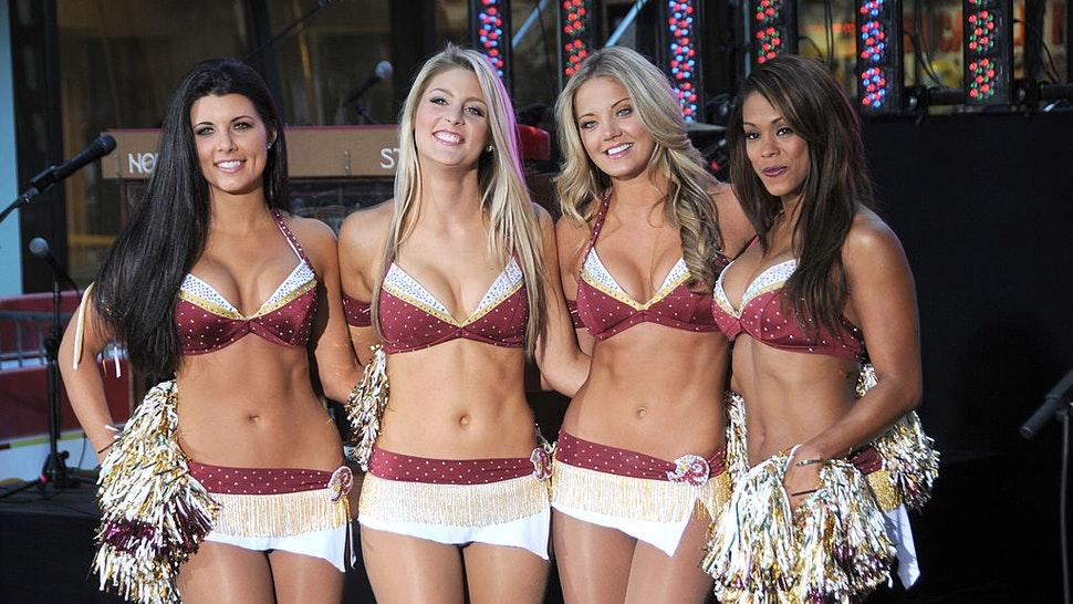 "The Washington Redskins Cheerleaders make an appearance on ""The Today Show"" at Rockefeller Center on September 10, 2010 in New York City."
