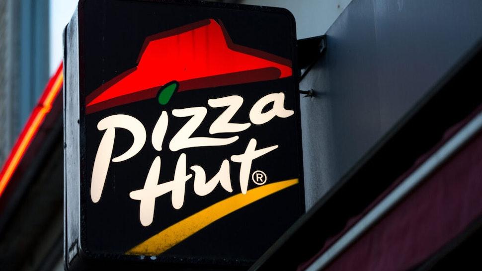 GOTHENBURG, SWEDEN - 2019/10/03: American restaurant chain and international franchise Pizza Hut logo seen in Gothenburg.