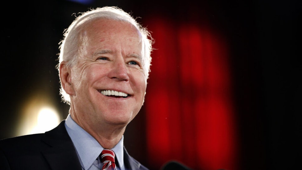 SCRANTON, PA - OCTOBER 23: Democratic Presidential candidate Joe Biden lays out his economic policy plan to help rebuild the middle class during a campaign stop at the Scranton Cultural Center on October 23, 2019 in Scranton, Pennsylvania. Biden has been a frontrunner for the candidacy but Elizabeth Warren has been gaining in recent polls.