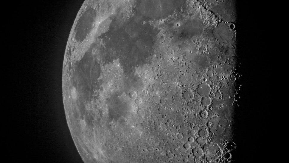 A close up of the moon - stock photo