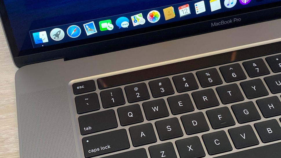 12 November 2019, US, New York: The new MacBook Pro, recorded at an Apple presentation in New York, features a redesigned keyboard, a sophisticated sound system, and a 16-inch display.