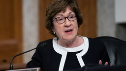 U.S. Sen. Susan Collins (R-ME) speaks at a hearing of the Senate Health, Education, Labor and Pensions Committee on September 23, 2020 in Washington, DC.