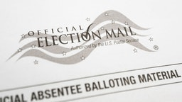 Absentee mail in ballot for the 2020 general election.