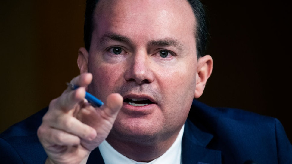 Sen. Mike Lee, R-Utah., questions Supreme Court justice nominee Amy Coney Barrett on the second day of her Senate Judiciary Committee confirmation hearing in Hart Senate Office Building on Tuesday, October 13, 2020.