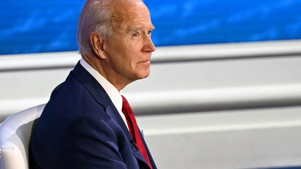 Democratic Presidential candidate and former US Vice President Joe Biden participates in an ABC News town hall