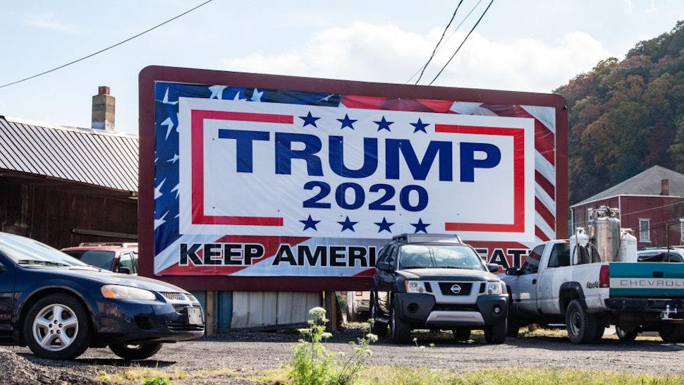 A pro-Trump billboard in Pennsylvania's anthracite coal region. (