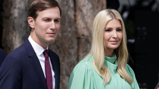 Special adviser to the president Jared Kushner (L) and Ivanka Trump arrive to the signing ceremony of the Abraham Accords on the South Lawn of the White House September 15, 2020 in Washington, DC.