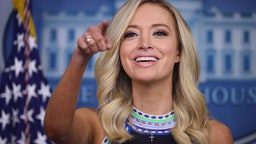 White House Press Secretary Kayleigh McEnany holds a news conference in the Brady Press Briefing Room at the White House on September 24, 2020 in Washington, DC.