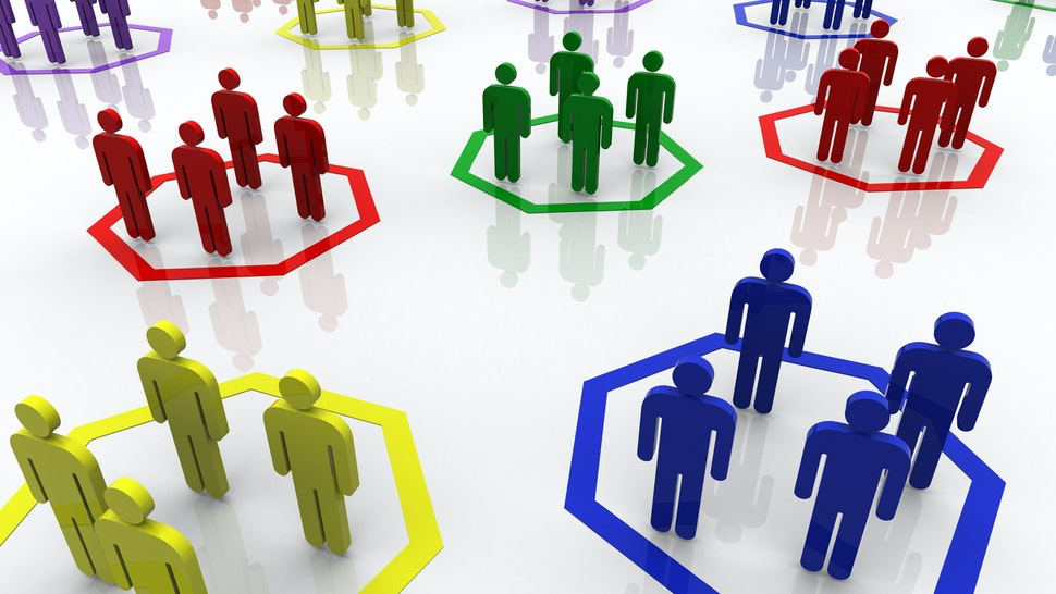 group of peoples - stock photo