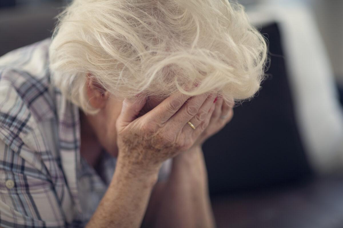 Senior woman despair