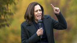TROY, MI - OCTOBER 25: Democratic U.S. Vice Presidential nominee Sen. Kamala Harris (D-CA) speaks at the Troy Community Center on October 25, 2020 in Troy, Michigan. Harris is traveling to multiple locations in the metro Detroit area to campaign for Democratic presidential nominee Joe Biden.