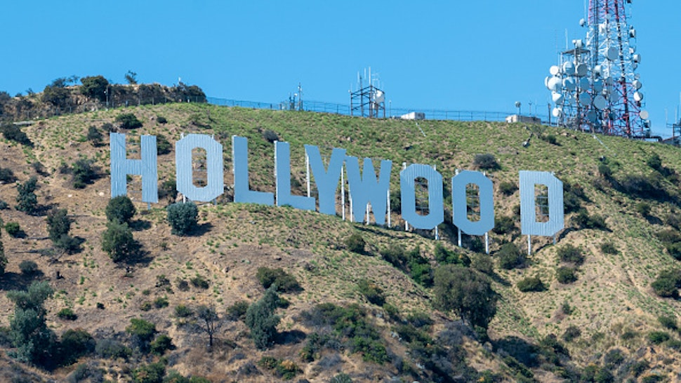 LOS ANGELES, CA - JULY 11: The Hollywood Sign is seen on July 11, 2020 in Los Angeles, California.