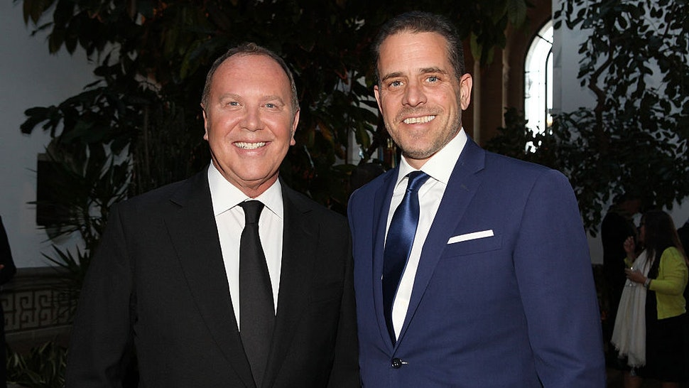 WASHINGTON, DC - APRIL 12: Designer Michael Kors (L) and World Food Program USA Board Chairman Hunter Biden attend the World Food Program USA's Annual McGovern-Dole Leadership Award Ceremony at Organization of American States on April 12, 2016 in Washington, DC. (Photo by Teresa Kroeger/Getty Images for World Food Program USA)