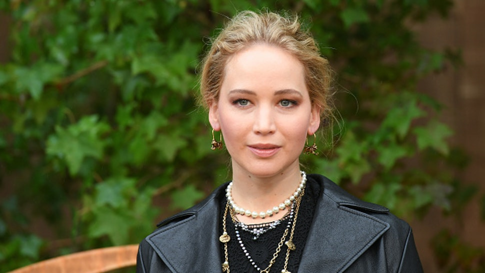 PARIS, FRANCE - SEPTEMBER 24: Jennifer Lawrence attends the Christian Dior Womenswear Spring/Summer 2020 show as part of Paris Fashion Week on September 24, 2019 in Paris, France.