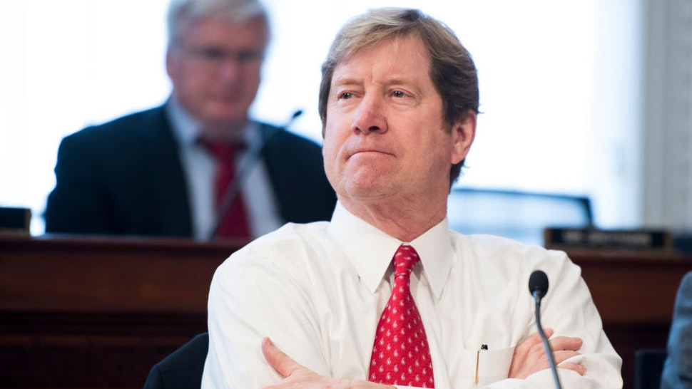 UNITED STATES - MARCH 16: Rep. Jason Lewis, R-Minn., participates in the House Budget Committee markup hearing on the GOP health care reconciliation legislation on Thursday, March 16, 2017.