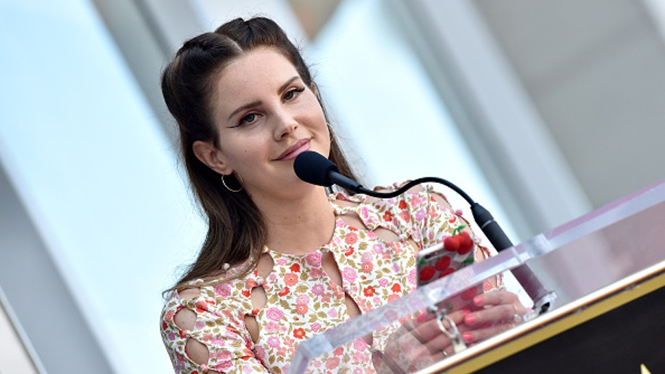 HOLLYWOOD, CALIFORNIA - AUGUST 06: Lana Del Rey attends the ceremony honoring Guillermo del Toro with a star on the Hollywood Walk of Fame on August 06, 2019 in Hollywood, California.