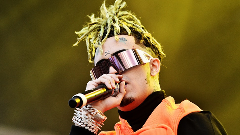 NEW YORK, NEW YORK - OCTOBER 12: Lil Pump performs during the 2019 Rolling Loud music festival at Citi Field on October 12, 2019 in New York City.