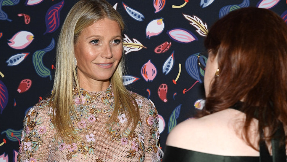 PARIS, FRANCE - FEBRUARY 26: (EDITORIAL USE ONLY) Gwyneth Paltrow and Glenda Adrianne Bailey attends the Harper's Bazaar Exhibition as part of the Paris Fashion Week Womenswear Fall/Winter 2020/2021 At Musee Des Arts Decoratifs on February 26, 2020 in Paris, France.