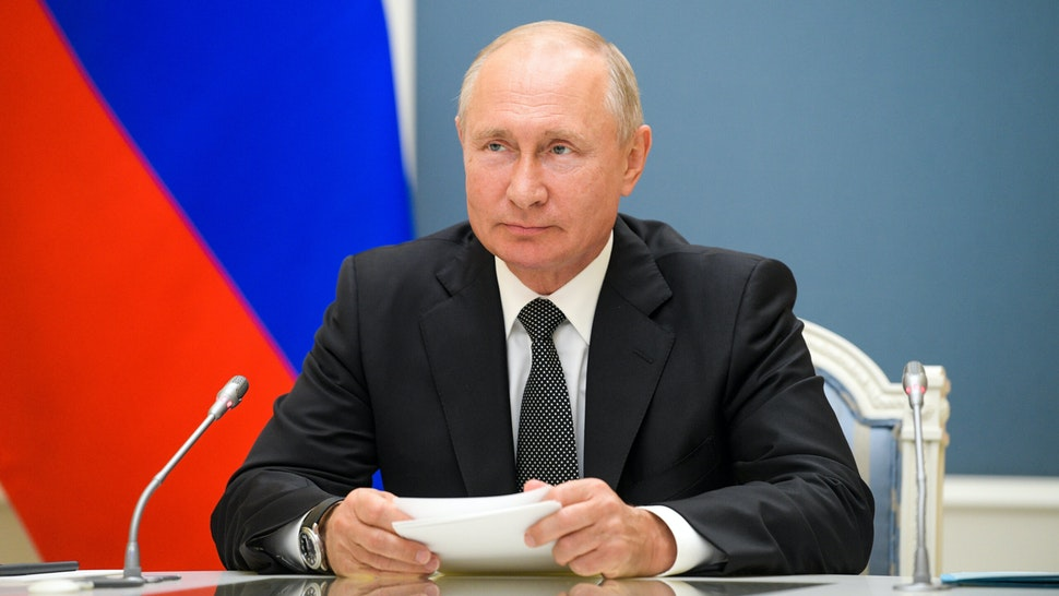 MOSCOW, RUSSIA - JUNE 30, 2020: Russia's President Vladimir Putin attends via video link the inauguration ceremonies for new medical centres built by Russia's Defence Ministry in Dagestan, Voronezh Region, and Penza Region. Alexei Druzhinin/Russian Presidential Press and Information Office/TASS
