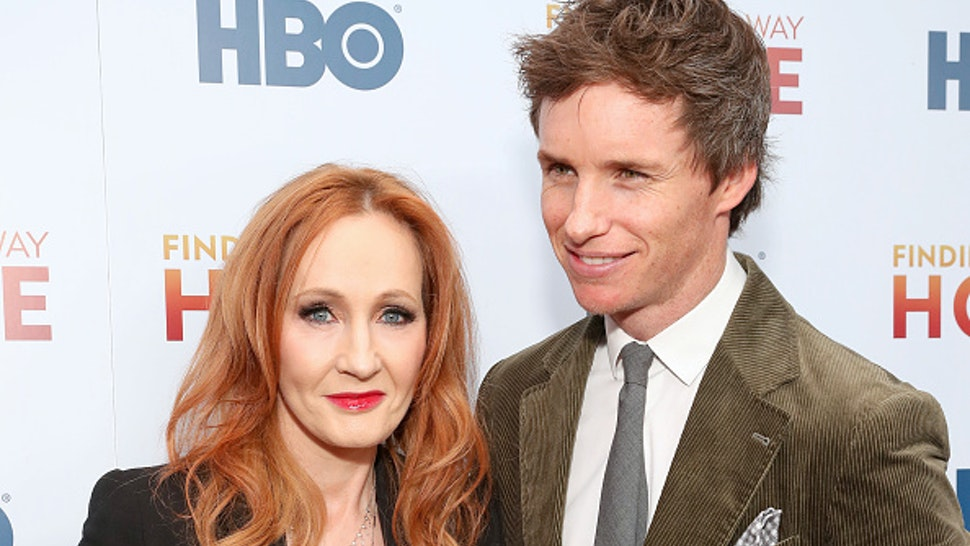 """NEW YORK, NEW YORK - DECEMBER 11: J.K. Rowling and Eddie Redmayne attend HBO's """"Finding The Way Home"""" World Premiere at Hudson Yards on December 11, 2019 in New York City."""