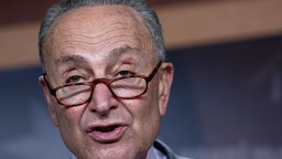 Senate Minority Leader Chuck Schumer, a Democrat from New York, speaks during a news conference at the U.S. Capitol in Washington, D.C., U.S. on Wednesday, Sept. 30, 2020. Treasury SecretarySteven Mnuchinand House SpeakerNancy Pelosimet for about 90 minutes today in their first in-person negotiations on a fresh fiscal stimulus package since August.