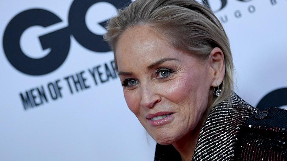 "07 November 2019, Berlin: Sharon Stone, American actress, comes to the ""GQ Men of the Year Awards"" 2019. Photo: Britta Pedersen/dpa-Zentralbild/dpa"