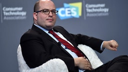 LAS VEGAS, NEVADA - JANUARY 09: CNN anchor and correspondent Brian Stelter speaks during a press event at CES 2019 at the Aria Resort & Casino on January 9, 2019 in Las Vegas, Nevada. CES, the world's largest annual consumer technology trade show, runs through January 11 and features about 4,500 exhibitors showing off their latest products and services to more than 180,000 attendees.