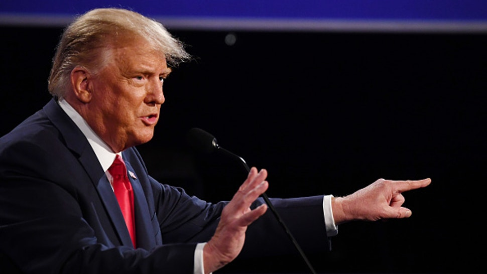U.S. President Donald Trump speaks during the U.S. presidential debate at Belmont University in Nashville, Tennessee, U.S., on Thursday, Oct. 22, 2020. Trump and Biden traded charges of secretly taking money from foreign interests, after the former vice president addressed head-on Trumps efforts to portray him as corrupt.