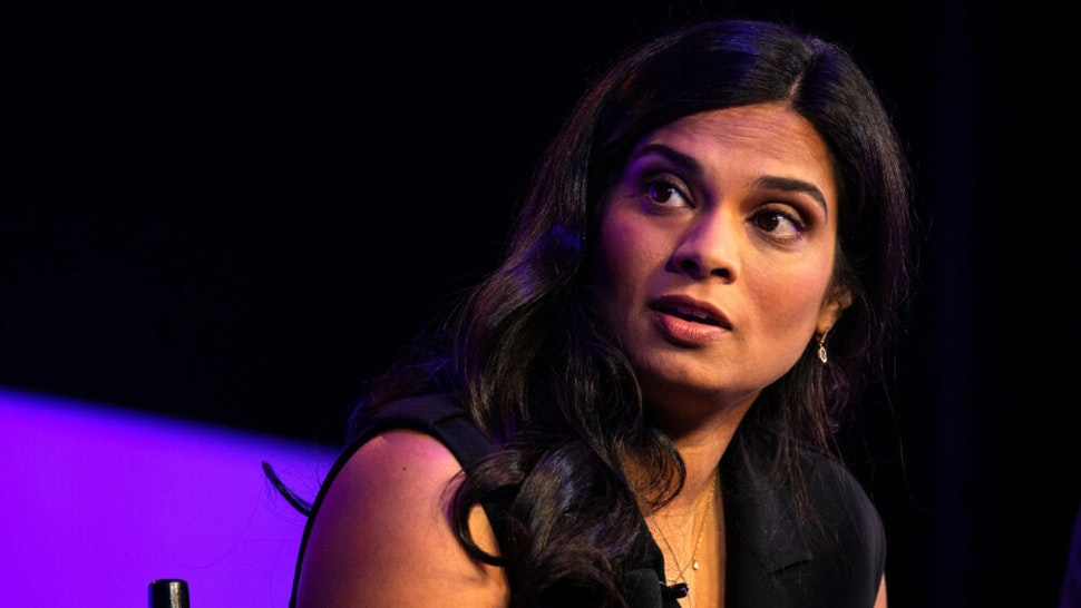 Vijaya Gadde, chief legal officer of Twitter Inc., speaks during the Wall Street Journal Tech Live global technology conference in Laguna Beach, California, U.S., on Monday, Oct. 21, 2019. The event brings together investors, founders, and executives to foster innovation and drive growth within the tech industry.