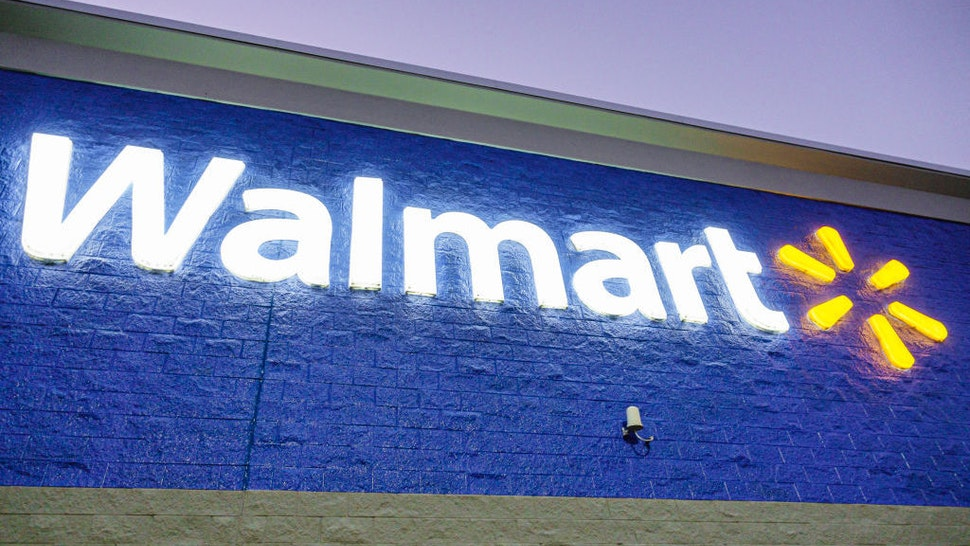 Florida, Spring Hill, Nature Coast Commons, shopping mall, Walmart, logo. (Photo by: Jeffrey Greenberg/Education Images/Universal Images Group via Getty Images)
