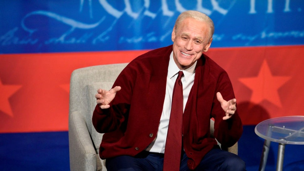 """SATURDAY NIGHT LIVE -- """"Issa Rae"""" Episode 1788 -- Pictured: Jim Carrey as Joe Biden during the """"Dueling Town Halls"""" Cold Open on Saturday, October 17, 2020 -- (Photo by:"""
