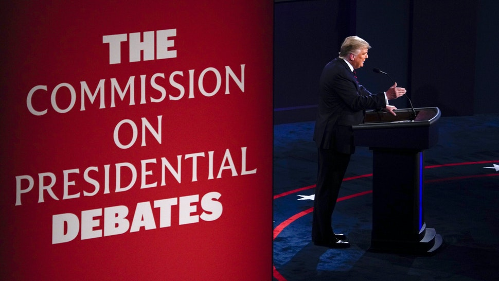 U.S. President Donald Trump speaks during the first U.S. presidential debate hosted by Case Western Reserve University and the Cleveland Clinic in Cleveland, Ohio, U.S., on Tuesday, Sept. 29, 2020. Trump and Biden kick off their first debate with contentious topics like the Supreme Court and the coronavirus pandemic suddenly joined by yet another potentially explosive question -- whether the president ducked paying his taxes.