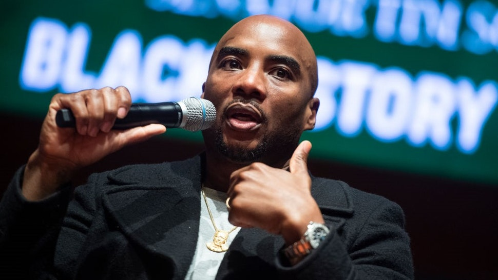 UNITED STATES - FEBRUARY 10: Charlamagne tha God, co-host of the Breakfast Club, conducts a discussion on the diversity of thought in the black community, in the Capitol Visitor Center during Black History Month on Monday, February 10, 2020. (Photo By