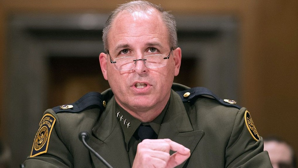 """Mark Morgan, chief of the US Border Patrol, testifies at a Senate Homeland Security and Governmental Affairs Committee hearing on """"Initial Observations of the New Leadership at the US Border Patrol"""" on Capitol Hill in Washington, DC, on November 30, 2016. / AFP / NICHOLAS KAMM (Photo credit should read"""