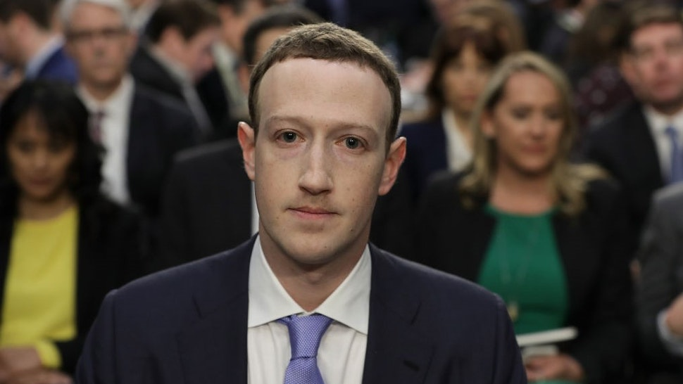 WASHINGTON, DC - APRIL 10: Facebook co-founder, Chairman and CEO Mark Zuckerberg arrives to testify before a combined Senate Judiciary and Commerce committee hearing in the Hart Senate Office Building on Capitol Hill April 10, 2018 in Washington, DC. Zuckerberg, 33, was called to testify after it was reported that 87 million Facebook users had their personal information harvested by Cambridge Analytica, a British political consulting firm linked to the Trump campaign. (Photo by
