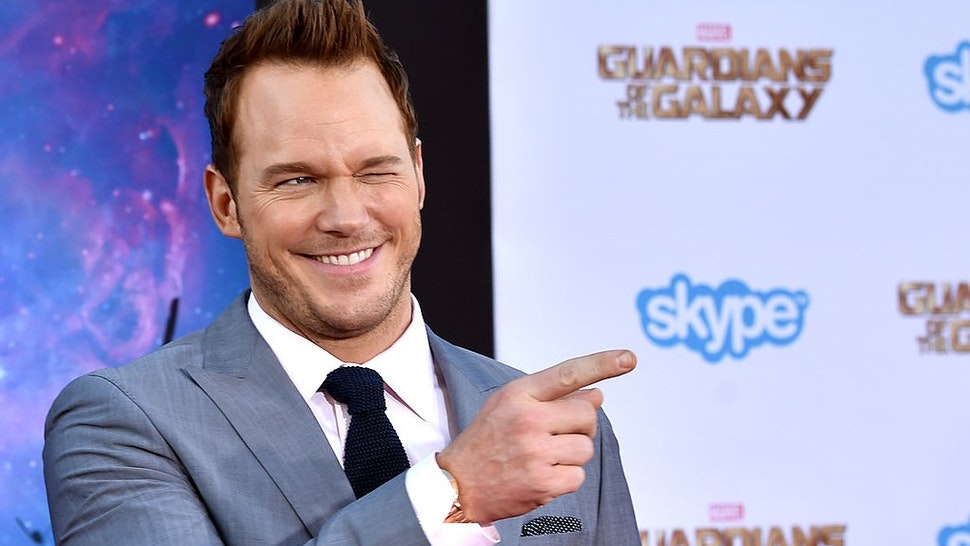 """HOLLYWOOD, CA - JULY 21: Actor Chris Pratt attends the premiere of Marvel's """"Guardians Of The Galaxy"""" at the Dolby Theatre on July 21, 2014 in Hollywood, California. (Photo by"""