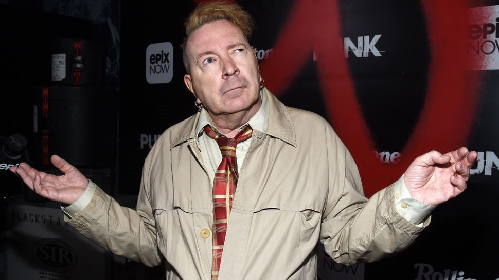 """LOS ANGELES, CALIFORNIA - MARCH 04: John Lydon arrives at the premiere of Epix's """"Punk"""" at SIR on March 04, 2019 in Los Angeles, California. (Photo by"""