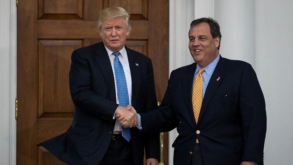 President-elect Donald Trump and New Jersey Governor Chris Christie shake hands before their meeting at Trump International Golf Club, November 20, 2016 in Bedminster Township, New Jersey.