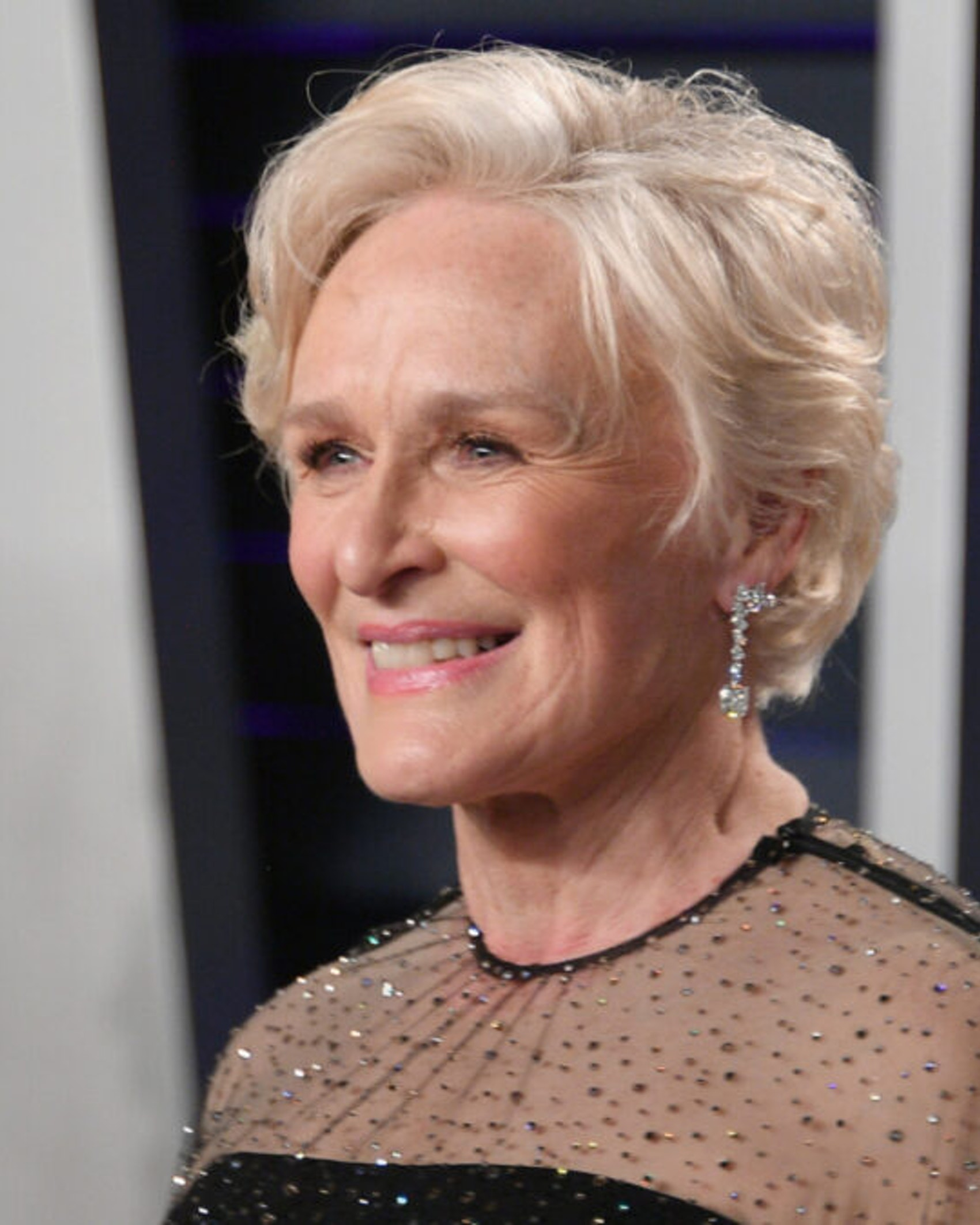 Glenn Close attends the 2019 Vanity Fair Oscar Party hosted by Radhika Jones at Wallis Annenberg Center for the Performing Arts on February 24, 2019 in Beverly Hills, California.