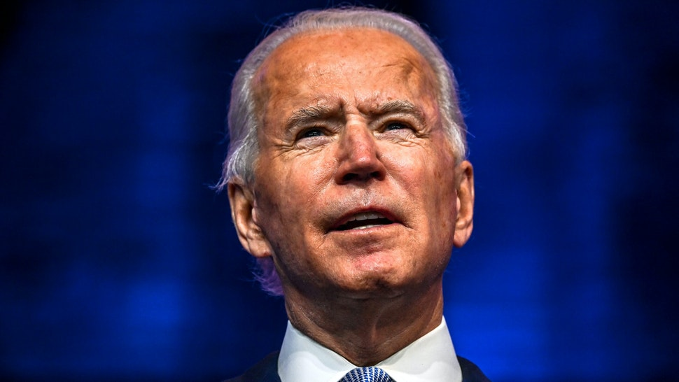 """US President-elect Joe Biden speaks during a cabinet announcement event in Wilmington, Delaware, on November 24, 2020. - US President-elect Joe Biden introduced November 24, 2020 a seasoned national security team he said was prepared to resume US leadership of the world after the departure of President Donald Trump. """"It's a team that will keep our country and our people safe and secure,"""" Biden said, introducing his picks for secretary of state, national security advisor, intelligence chief, and other key cabinet jobs""""It's a team that reflects the fact that America is back. Ready to lead the world, not retreat from it,"""" Biden said."""