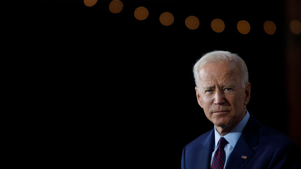 BURLINGTON, IA - AUGUST 07: Democratic presidential candidate and former U.S. Vice President Joe Biden delivers remarks about White Nationalism during a campaign press conference on August 7, 2019 in Burlington, Iow