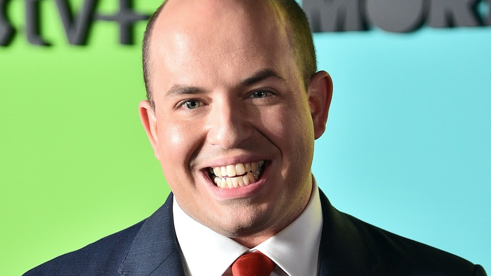 """Brian Stelter attends the Apple TV+'s """"The Morning Show"""" World Premiere at David Geffen Hall on October 28, 2019 in New York City. (Photo by Theo Wargo/Getty Images)"""