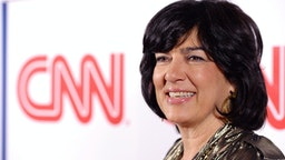 PASADENA, CA - JANUARY 10: Journalist Christiane Amanpour attends the CNN Worldwide All-Star Party At TCA at Langham Hotel on January 10, 2014 in Pasadena, California.