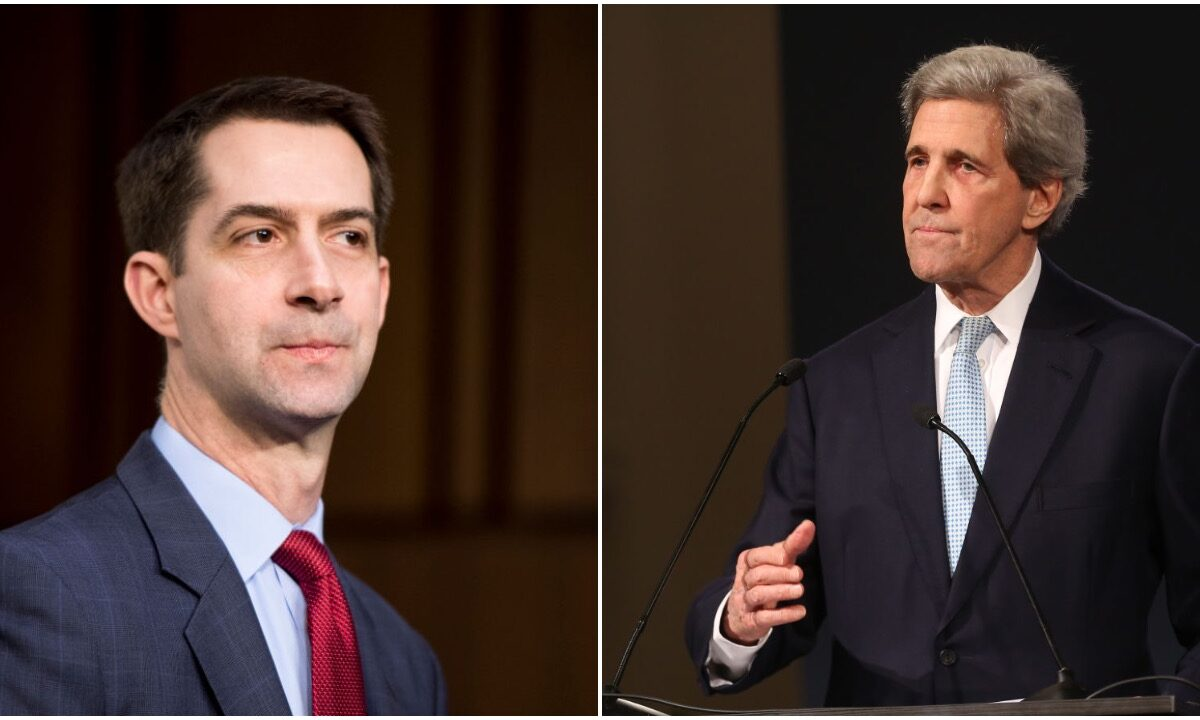 Biden Picks John Kerry For Climate Czar. Tom Cotton Slams Kerry With 'Perfect Tweet'