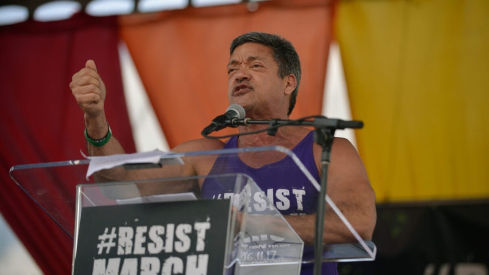 NALEO National Chairman John Duran attends the LA Pride ResistMarch on June 11, 2017 in West Hollywood, California.