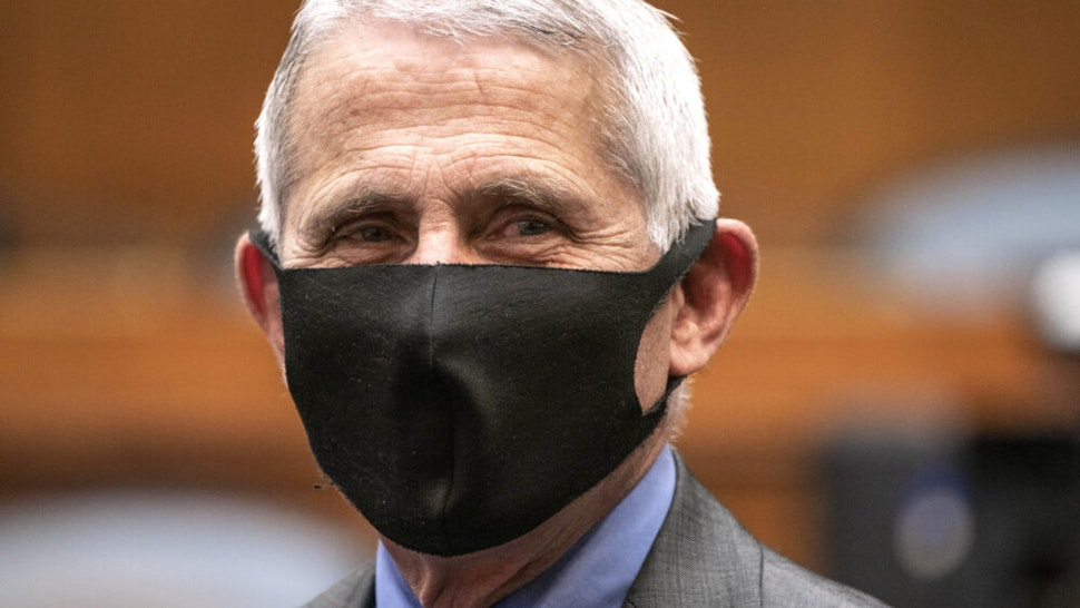 WASHINGTON, DC - JUNE 23: Anthony Fauci, director of the National Institute of Allergy and Infectious Diseases, prepares to testify before a hearing of the House Committee on Energy and Commerce on Capitol Hill on June 23, 2020 in Washington, DC. The committee is investigating the Trump administration's response to the COVID-19 pandemic.